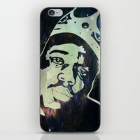 biggie smalls iPhone & iPod Skins featuring Biggie Smalls by Taylor Burleson
