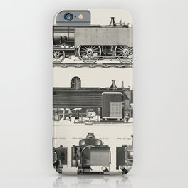 Engine train and its compartments from a technical journal The Engineer by Edward Charles Healey (18 iPhone Case