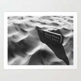 Hazardous Surf Art Print