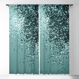 Teal Mermaid Ocean Glitter #1 #shiny #decor #art #society6 Blackout Curtain
