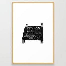 To Katahdin Framed Art Print