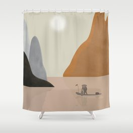 Chinese landscape Shower Curtain
