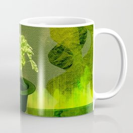 Abstract St Patrick day clover in a hat Coffee Mug