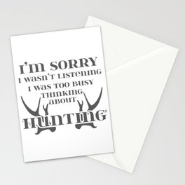 Hunter Gifts for Dad Thinking About Hunting Gift Stationery Cards