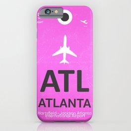 Airport code Atlanta iPhone Case