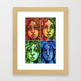 Rainbow Maidens Framed Art Print