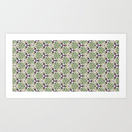 Triaxial Tessellated Turnips w/Purple smallscale Art Print