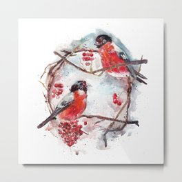 Bullfinches Metal Print