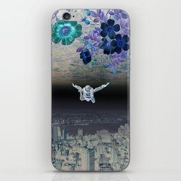 A Skydiver Between Two Parallel Universes iPhone Skin