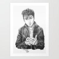 alex turner Art Prints featuring alex turner by roanne Q