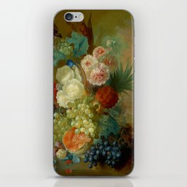 """Jan van Os """"Still life of peonies, a cock's comb and morning glories"""" iPhone Skin"""