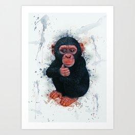 Chimpanzee Art Art Print