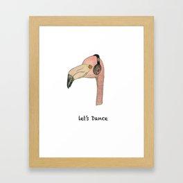 Flamingo LET'S DANCE Framed Art Print