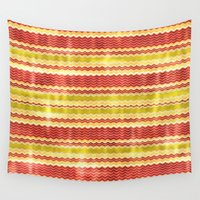 fabric Wall Tapestries featuring Decorative fabric by Zenya Zenyaris