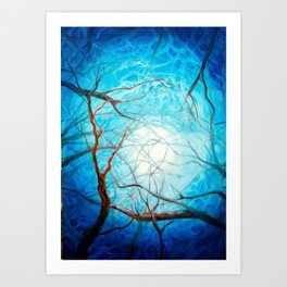 Light through the branches Art Print
