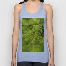Green coniferous fresh shoots detail Unisex Tank Top