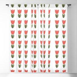 Spring summer tulip flower pattern Blackout Curtain
