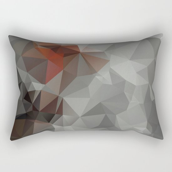 Abstract background of triangles polygon design bright colors Rectangular Pillow