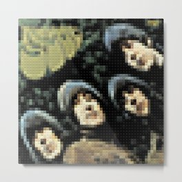 Rubber Soul - Legobricks Metal Print