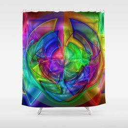 Plastic, light, and chaos ... Shower Curtain