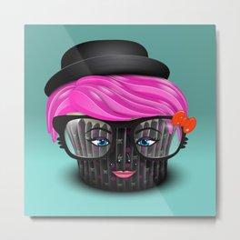 Lil' Poison Cupcake Metal Print