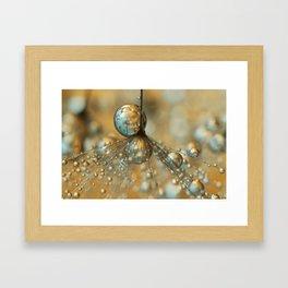 Golden Dandy Shower Framed Art Print