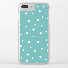 Seamless Polka Dots Pattern Clear iPhone Case