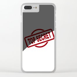 Top Secret Half Covered Ink Stamp Clear iPhone Case