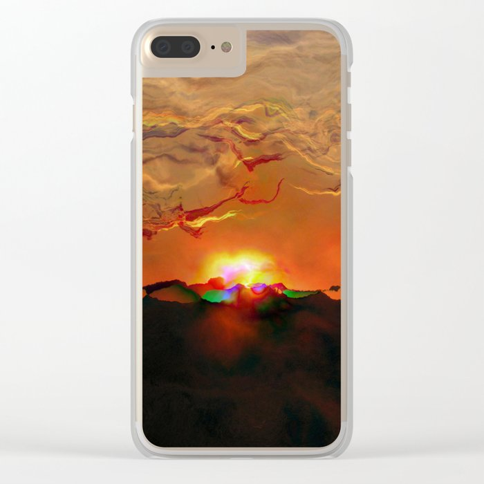 Explosion Clear iPhone Case