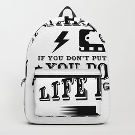 Life Is Like A Harmonica Backpack