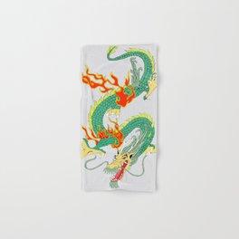 Green Chinese Dragon Hand & Bath Towel