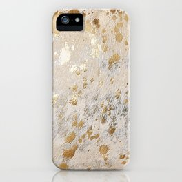 Gold Hide Print Metallic iPhone Case