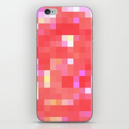 Re-Created Colored Squares No. 49 by Robert S. Lee iPhone Skin