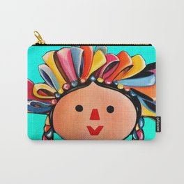 Mexican Maria Doll (turquoise) Carry-All Pouch