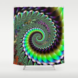 Fractal Staircase Shower Curtain