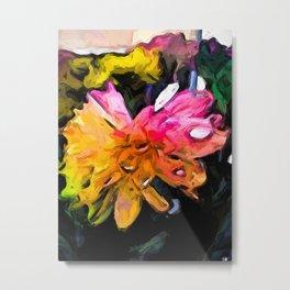 Rainbow Flowers 2 Metal Print