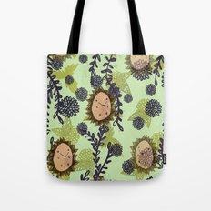 Hedgehog pattern Tote Bag