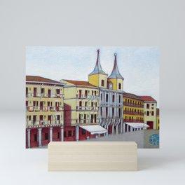 Postcard from Plaza Mayor, Segovia, Spain Mini Art Print