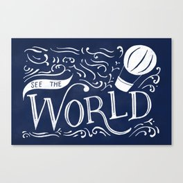 See the World Canvas Print