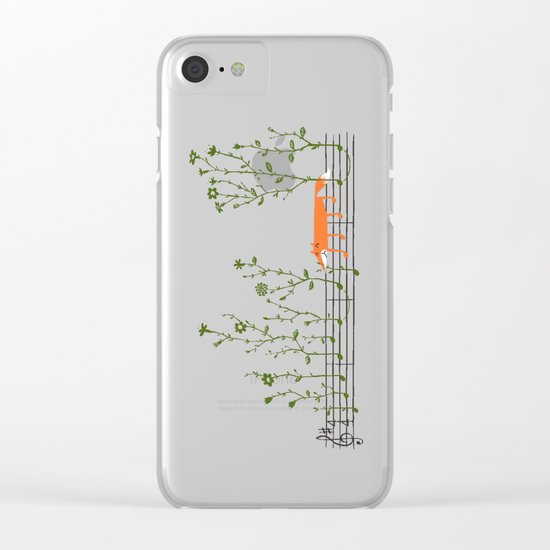 Happy Tune Clear iPhone Case
