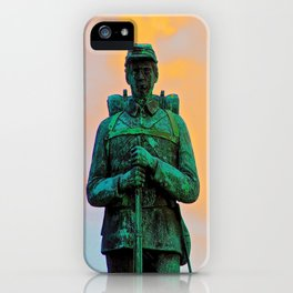 A Soldier's Sunset iPhone Case