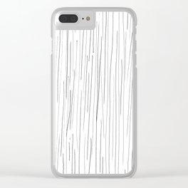 The rain Clear iPhone Case
