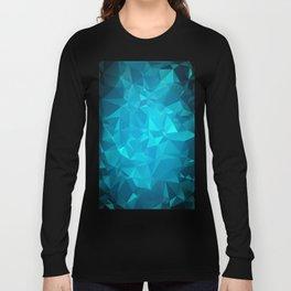 Blue Polygonal Mosaic Long Sleeve T-shirt