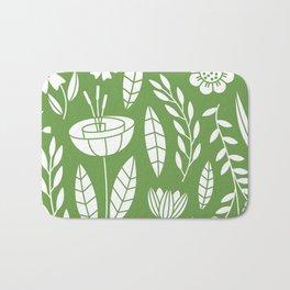 Blooming Field - green Bath Mat