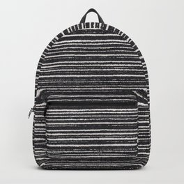 Modern black white geometrical stripes pattern Backpack