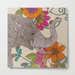 Boho Elephant Metal Print