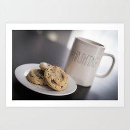 Life is short, eat cookies! Art Print