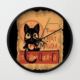 Le Chat Magique Wall Clock