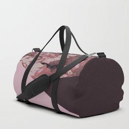 Pink mums geometrical collage Duffle Bag