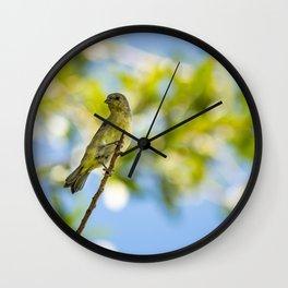 Yellow Bird - I Wall Clock